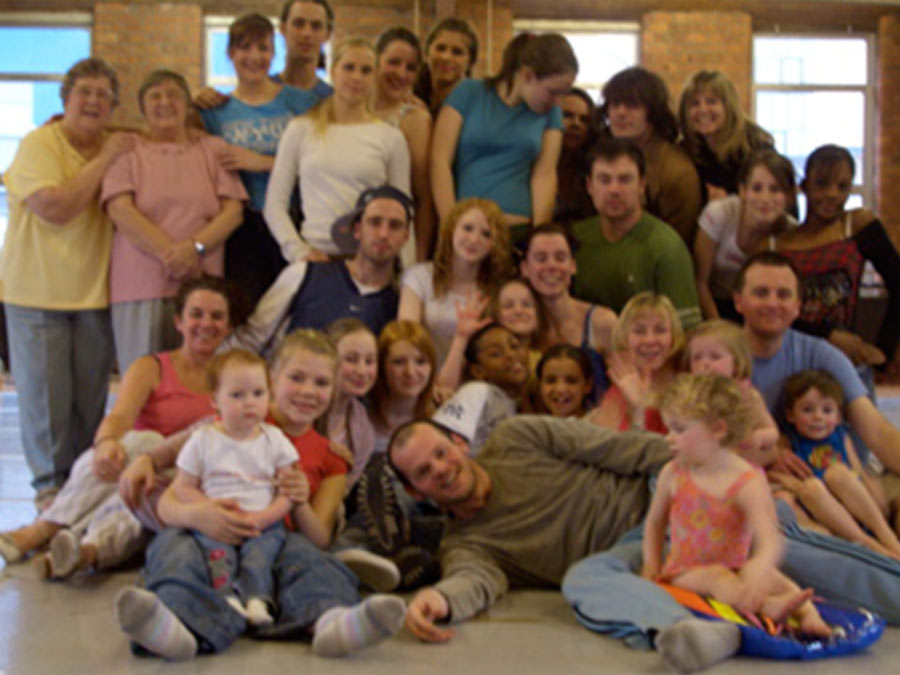A group photo of all the participants and Luca