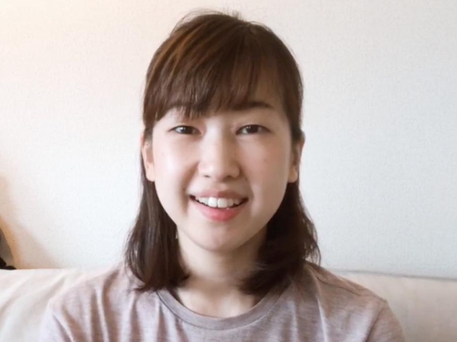 a close uo of Sonoko Chishiro's face
